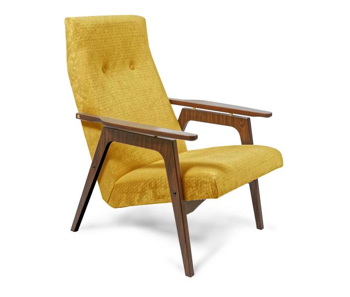 кресло в стиле модерн с деревянными ручками, кресло в стиле конструктивизм, кресло в стиле советский авангард, стиль Mid Century Modern, советский модерн