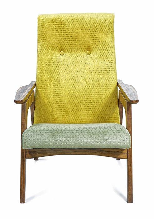 Кресло в двух обивках