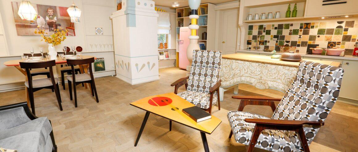 ретро кресло, советское кресло, кресло в стиле советского авангарда
