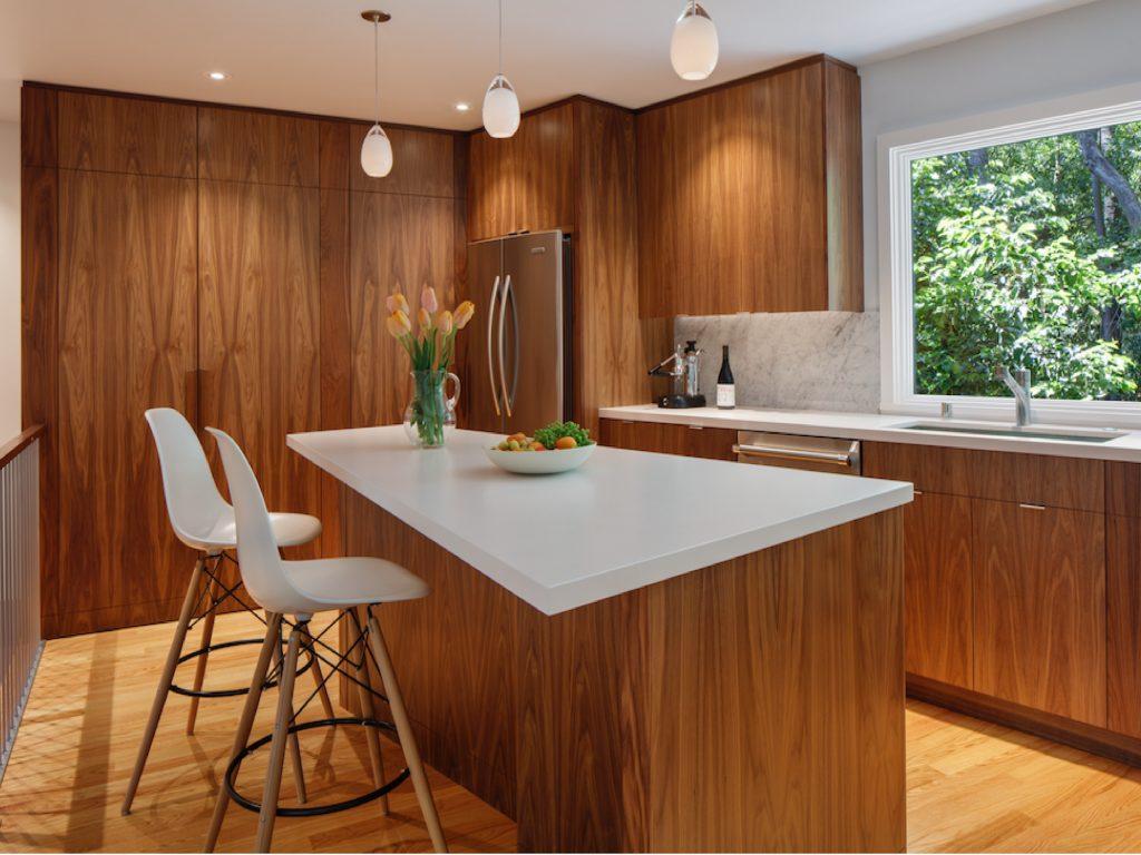 дизайн кухни, midcentury в интерьере, интерьер кухни midcentury,